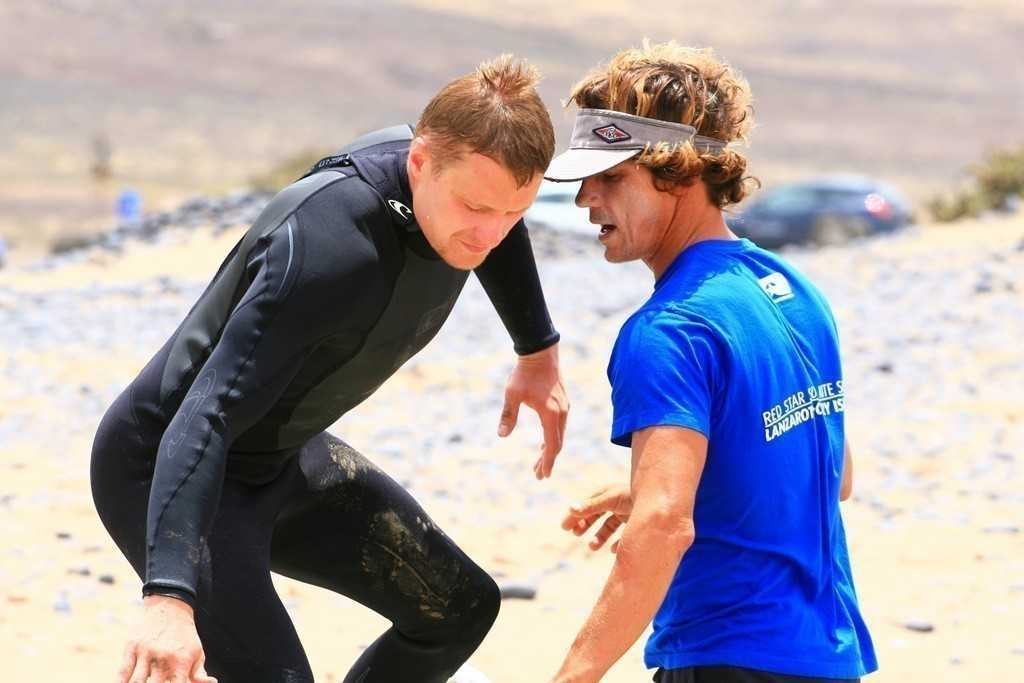 private surf lessons tuition with a private coach in Lanzarote