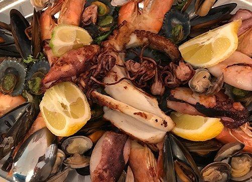 Local seafood Lanzarote