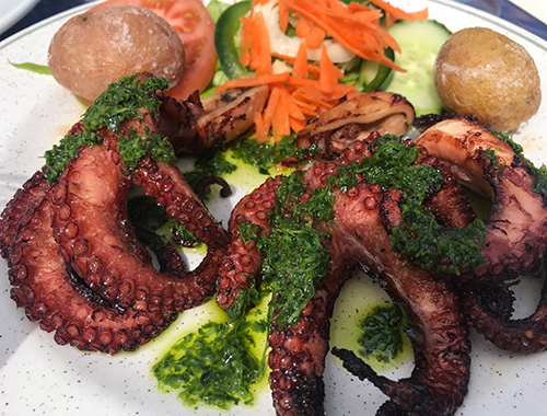 Grilled octopus in Lanzarote