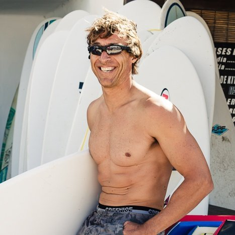 mike surf shop assistant at red star surf lanzarote