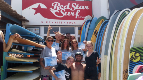 surf camp redstarsurf learn to surf in lanzarote famara islas canarias accommodation surf house